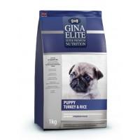 Полнорационный корм высшей категории качества для щенков с индейкой и рисом Gina (Джина) Elite Puppy Turkey & Rice