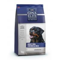 Полнорационный корм высшей категории качества с цыпленком и рисом для взрослых собак Gina (Джина) Elite Adult Dog Chicken & Rice