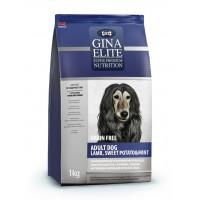 Полнорационный беззерновой корм высшей категории качества с ягненком, сладким картофелем и мятой для взрослых собак Gina (Джина) Elite Grain Free Adult Dog Lamb, Sweet Potato & Mint