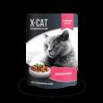 Паучи X-Cat с лососем в соусе для стерилизованных кошек 85 гр.