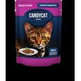 Паучи Candycat с индейкой и овощами в желе 85гр.