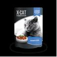 Паучи X-Cat с сельдью и форелью 85 гр.