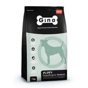 Комплексный сбалансированный гипоаллергенный корм высшей категории качества для щенков, беременных и кормящих сук Gina (Джина) Puppy Hypoallergenic Denmark