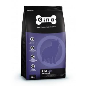 Сухой корм для взрослых кошек, рекомендован для стерилизованных Gina (Джина) Cat 30 Adult Denmark