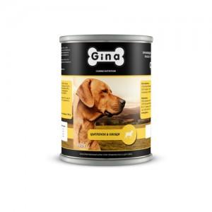 Консервы для собак Цыплёнок и Овощи Gina (Джина) Chicken & Vegetables