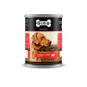 Консервы для  щенков  Говядина и овощи Gina (Джина) Beef & Vegetables for puppy
