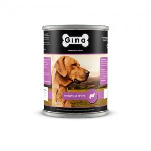 Консервы для собак  Говядина и Печень Gina (Джина) Beef & Liver
