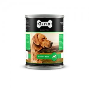 Консервы для собак Ягнёнок и Сыр Gina (Джина) Lamb & Cheese