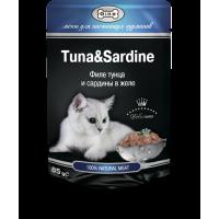 Корм для кошек Тунец с сардинами Gina (Джина) Tuna & Sardine 85 гр